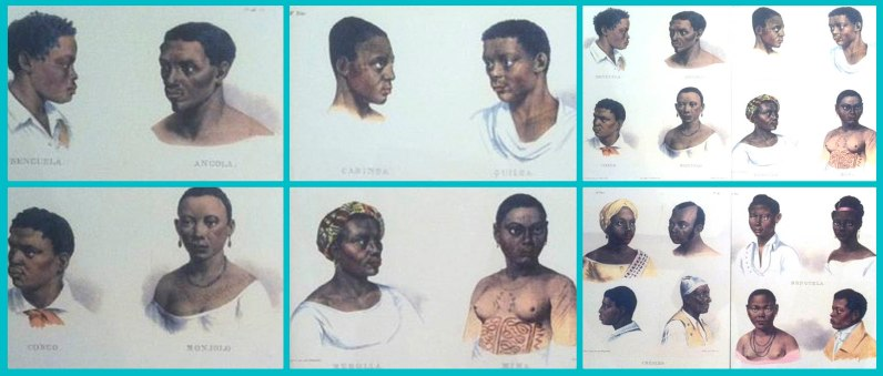 Grupos étnicos linguísticos vindos da África para o Brasil. Quadro exposto no Museu Afro Brasil, São Paulo.